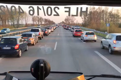 This Is How Germans Merge A Security Line On Highway