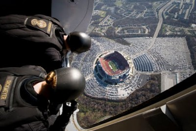 Parachuting Into A Football Stadium From The POV Of Navy SEALs Is Spectacular