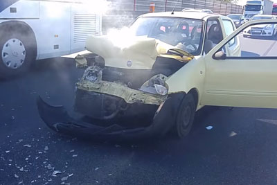 This Is Car's Damage After Fiat Smashes Into Volvo