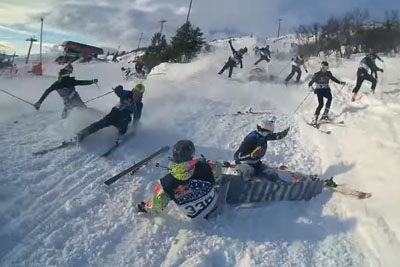 Red Bull Downhill Race In Sweden Goes Horribly Wrong