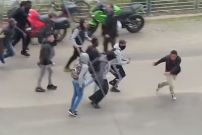 Migrants In France Attack Two Man During A Protest Without Any Reason