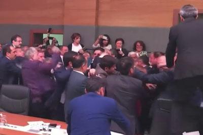 Big Brawl Occurred In Turkish Parliament