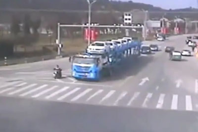 A Truck Ran Over A Man On A Motorcycle, Then This Miracle Happened