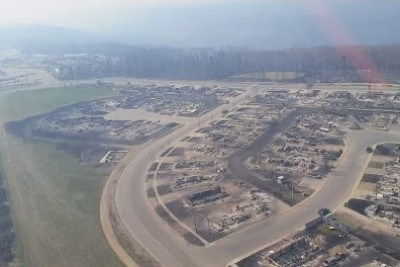 Helicopter Flyover Shows Scale Of Destruction In Fort McMurray