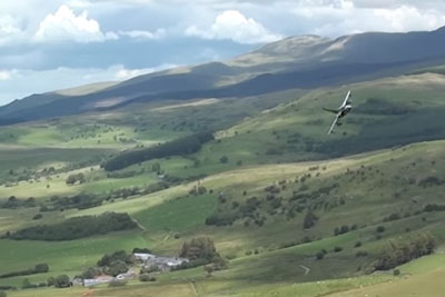 Awesome Ground Hugging Tornado Jet In The Welsh Mountains
