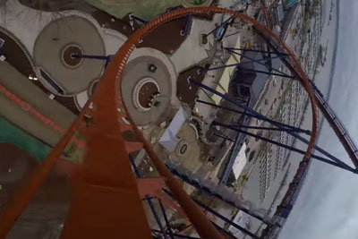 Ride The World's Tallest Dive Roller Coaster From The Comfort Of Your Desk