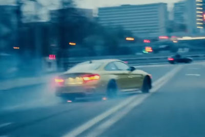 This Has To Be Craziest BMW M4 Drifting On The Streets Of Moscow