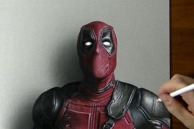 This 3D Deadpool Drawing Is Beyond Awesome