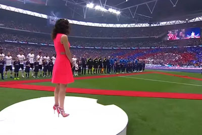 Awkward Moment When You Miss Your Cue To Sing The National Anthem