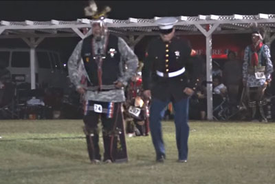 When The Native Americans Began Their Dance, No One Expected A Marine To Walk In And Do This