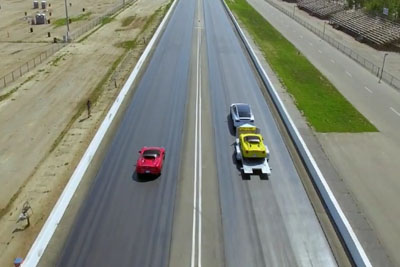 Tesla Model X Beats A Supercar In A Race While Towing The Same Supercar Behind