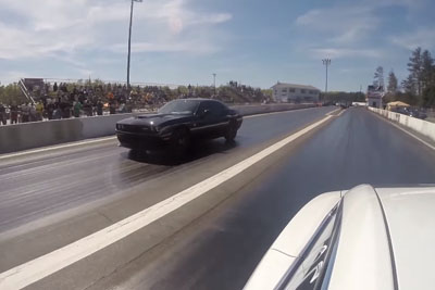 Ludicrous Tesla Takes Down Multiple Hellcat Challengers Drag Racing