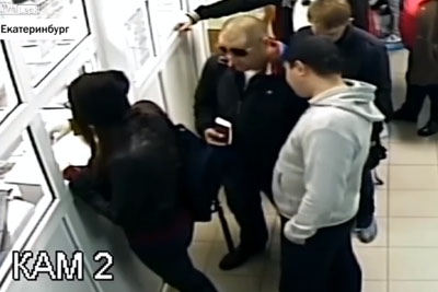 Girl Cuts In Front Of Guy In Line, Guy Picks Her Purse In Retaliation