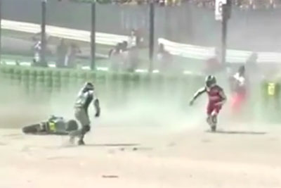 Rider Fell During The Race, Then This Happened - You Will Laugh At This Video Like Never Before