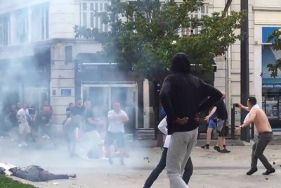 English Fans Beat Muslims In Marseille, France During Euro 2016