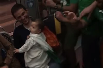 Irish Fans Sing Lullabies To French Baby On Bordeaux Train