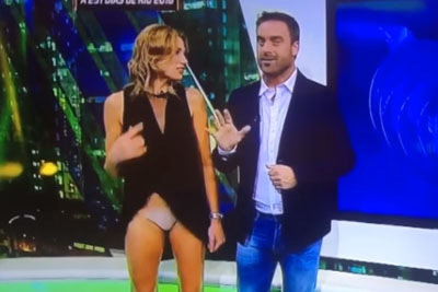 Leggy Fox News Presenter Alina Moine Accidentally Flashes Knickers On TV