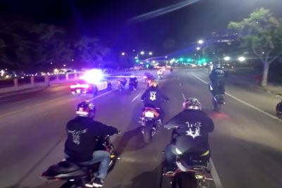 This Video Of Cops Chasing A Gang Of Bikers Looks Like Something Out Of A Movie