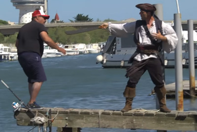 French Prankster Remi Gaillard Goes All Pirate