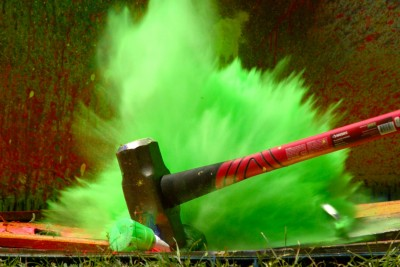 Slow Motion Of Exploding Spray Paint At 2500 FPS