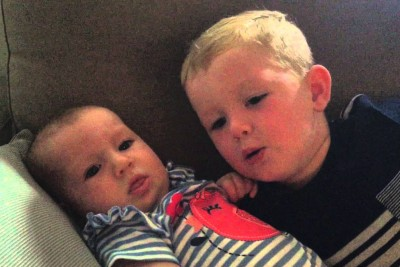 Baby Sister Was Fussy - But Watch How Big Brother Calms Her Down