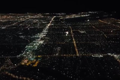 Breathtaking View From A Plane In Las Vegas On Independance Day 2016
