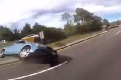 A Brutal Car Rollover Accident Captured By Bikers In Mexico