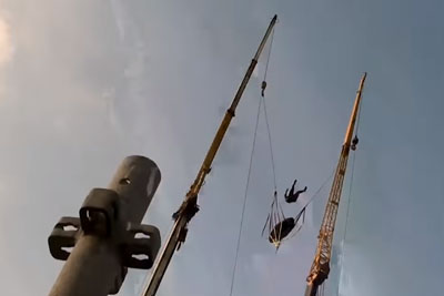 Giant Human Slingshot Must Have Given These Base Jumpers Major Whiplash