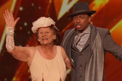 Naughty 90-Year-Old Grandma Earns A Golden Buzzer With This Hilarious Act