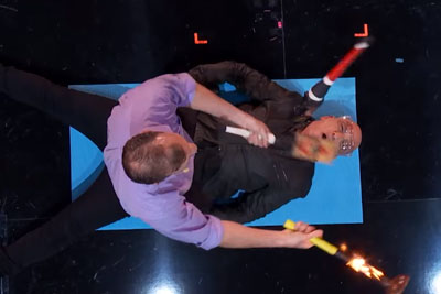 Juggling Duo Brings Howie Mandel Into Their Wacky Act At America's Got Talent
