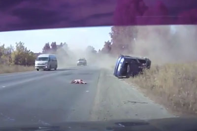 Horrifying Video Shows Young Girl Being Thrown From A Car Window During Brutal Car Crash