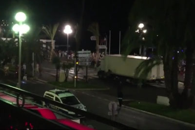 Dramatic Footage Of Truck Running Into Crowd In New Terrorist Attack In Nice, France