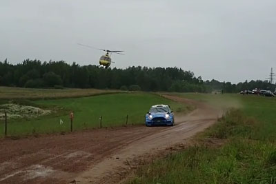 Crazy Helicopter Pilot Spices Polish Rally With His Low Flight