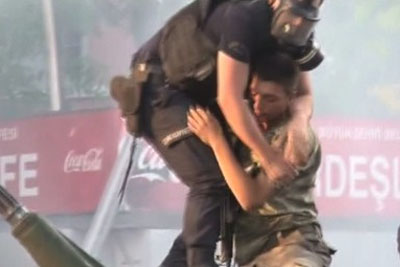 Turkey Coup Soldier Pulled To Safety By Police