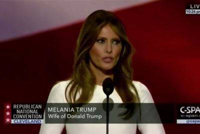 Watch Melania Trump Straight Copy Her Speech From Michelle Obama