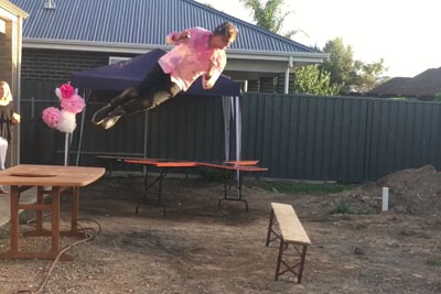 When You Watch Too Much WWE And Think You Can Take On The Table