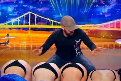 Spanish Percussionist Plays On Booty Cheeks On Ukraine's Got Talent
