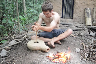 Making A Forge Blower Using Primitive Technology