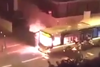 Migrant Gang In Paris Attacks Passenger Bus With Molotov Cocktail