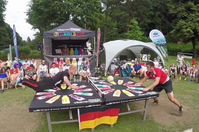 The Best Head Ping Pong Rally You'll See All Day