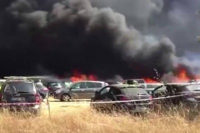 Portuguese Dance Festival Evacuated After 422 Cars Catch Fire