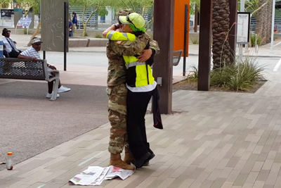 Mom Receives Surprise Of Lifetime When Military Son Arrives Home Early