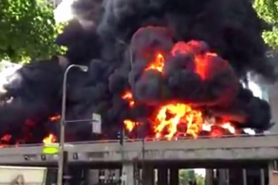 Shocking Tank Truck Accident On Highway In The Middle Of Montreal