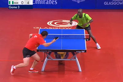 Nigerian Table Tennis Player Won't Let You Score Against Him