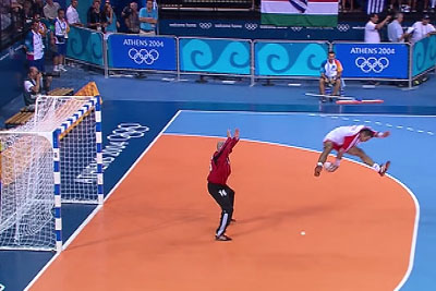 Crazy Goals From Handball On Olympic Games