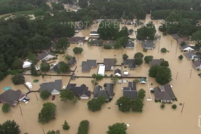 Catastrophic Flooding In Central Louisiana Captured From The Helicopter