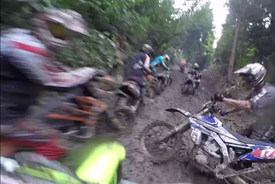 This Crazy Enduro Biker Knows No Obstacles On A Mud Race
