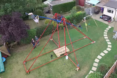 Colin Furze Upgrades His Giant 360 Swing With A Paramotor
