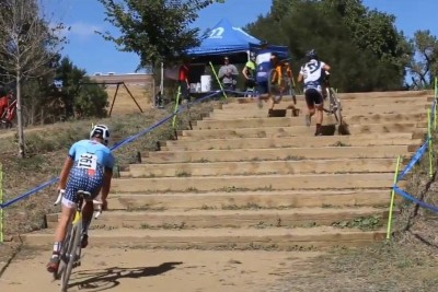 Cyclist Shows Us How To Ride Up Stairs On A Bike