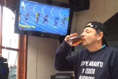 Can This Man Chug A Beer Before Usain Bolt Ends A 100m Run